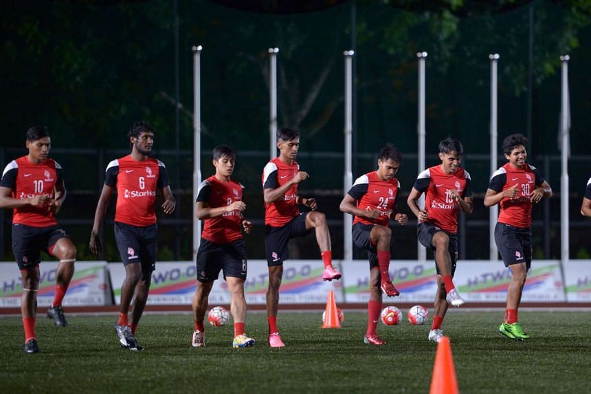 With their rice bowls intact for next year at least, the LionsXII took to the ITE College Central pitch for training in a better frame of mind last night.
