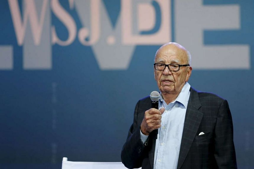 News Corp co-chairman Rupert Murdoch speaking at an event in California on Oct 19.