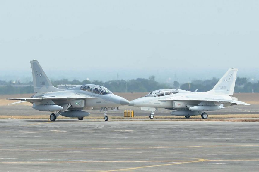 South Korean-made FA-50 multirole light fighter aircraft for the Philippine Air Force.