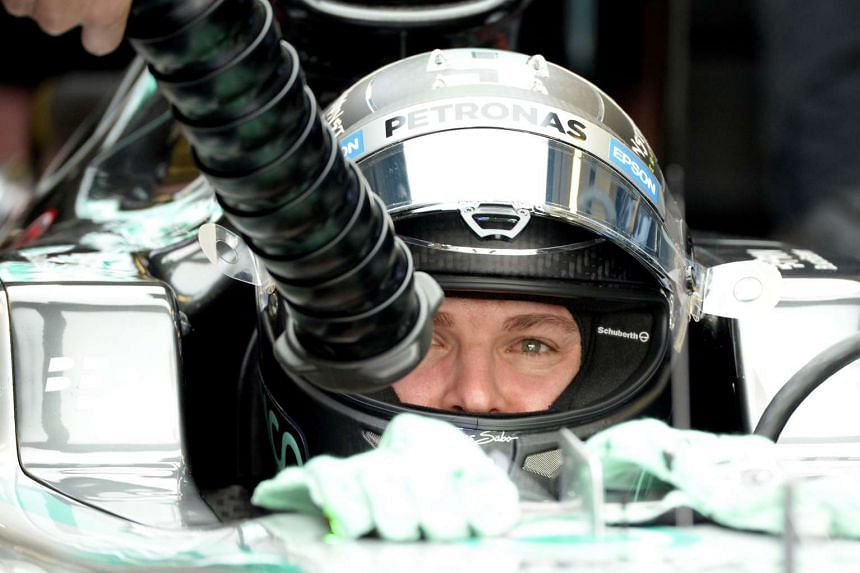 Rosberg was the only driver inside the 1min 42sec mark, with a best lap of 1:41.856.