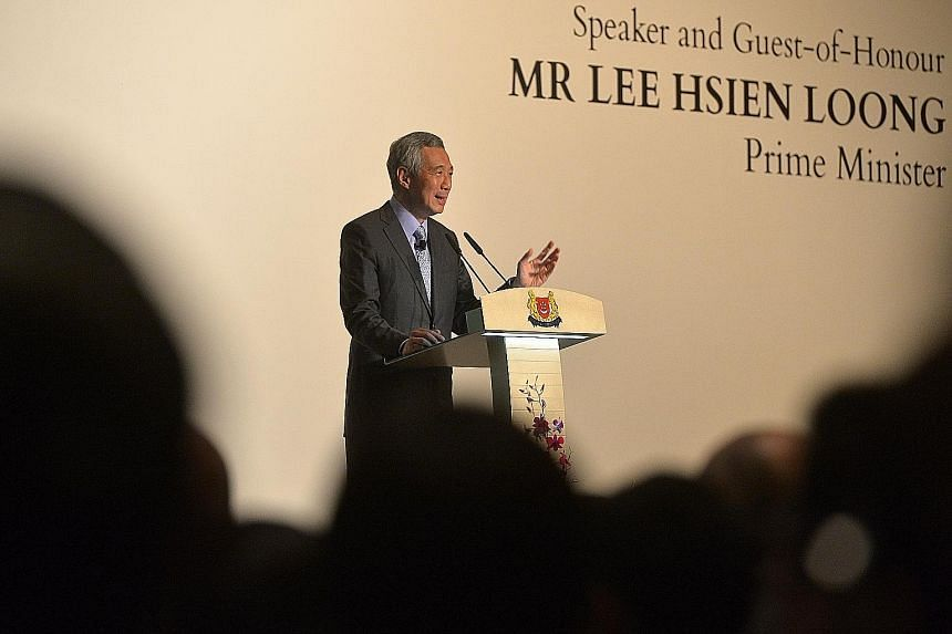 In his speech yesterday, PM Lee said that domestic success - which means having economic prosperity, peace, a well-run state and strong defence - is what underpins successful foreign policy. PM Lee Hsien Loong speaking with veteran diplomats (from ri