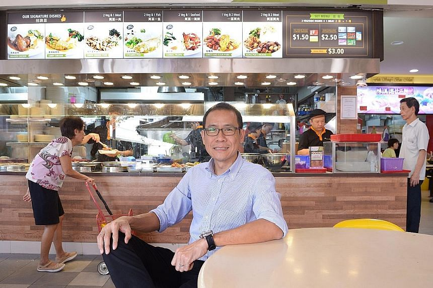 Mr Vincent Chia of Kimly Group, which runs a chain of mixed rice stalls, converted his stall in Ang Mo Kio Avenue 10 into a Rice Garden outlet.
