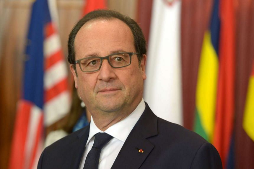 French President Francois Hollande attending the Special session on climate change during the Commonwealth Heads of Government Meeting on Nov 27, 2015.