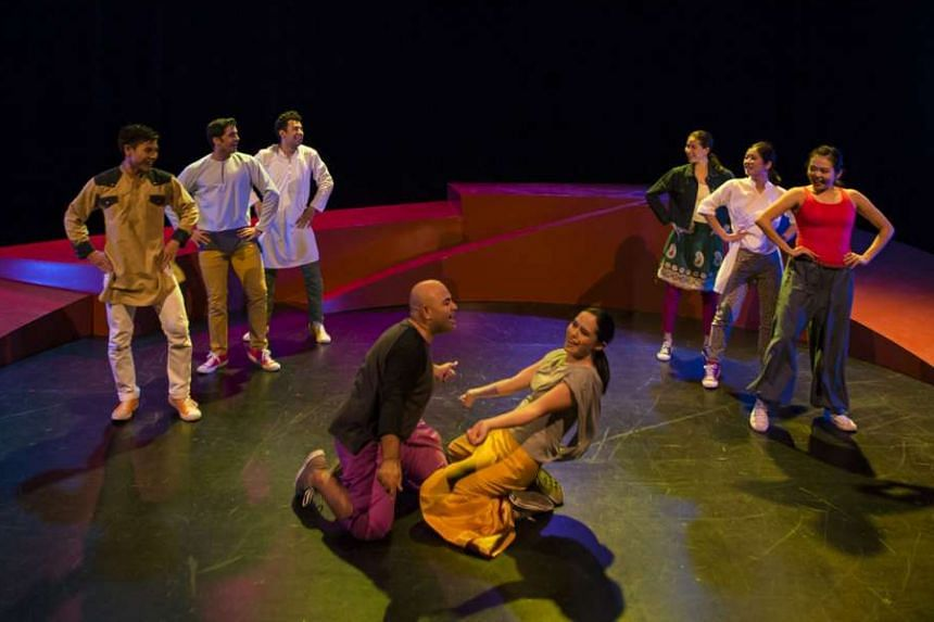 The cast members throw themselves with serious abandon into the intensely physical roles the play demands.