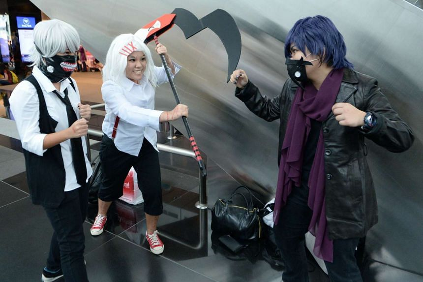Cosplayers attend the Anime Festival Asia 2015.