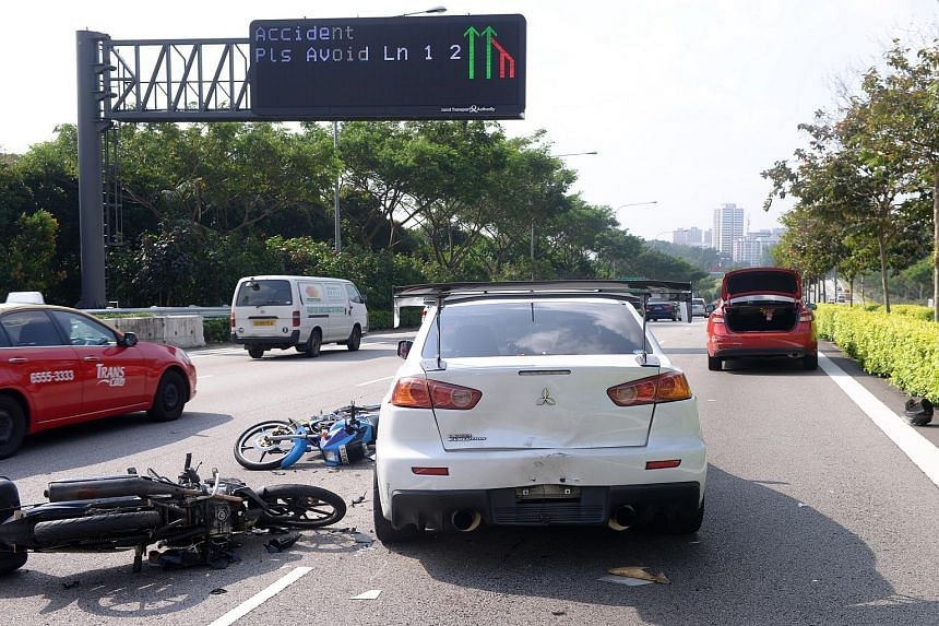 A four-vehicle accident on the Central Expressway (CTE).