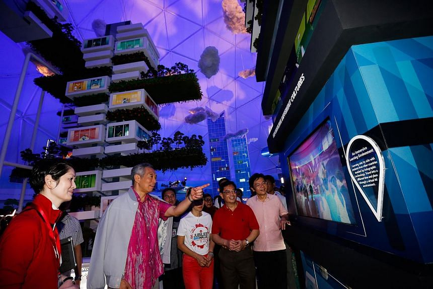 PM Lee at the opening of the Future of Us exhibition.