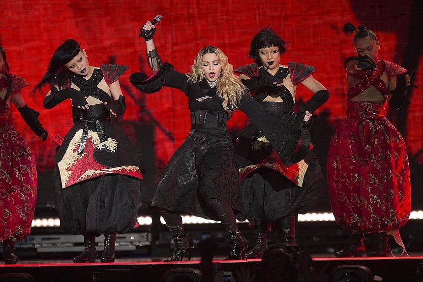 Madonna performing in Denmark earlier this month. If confirmed, the concert in Singapore is expected to be held on Feb 28, with tickets likely to go on sale mid-next month.