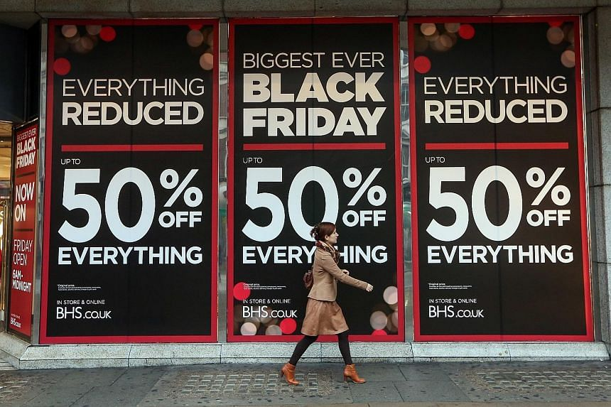 Stores around Britain were serene on Black Friday as consumers shopped from the comfort of their homes and offices.
