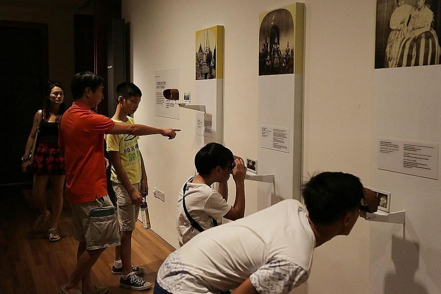 Interactive displays at the National Gallery, which brings together about 8,000 works of art from the 19th century to the modern day. Some 800 of these works are displayed at any one time in its permanent galleries: the DBS Singapore Gallery and UOB
