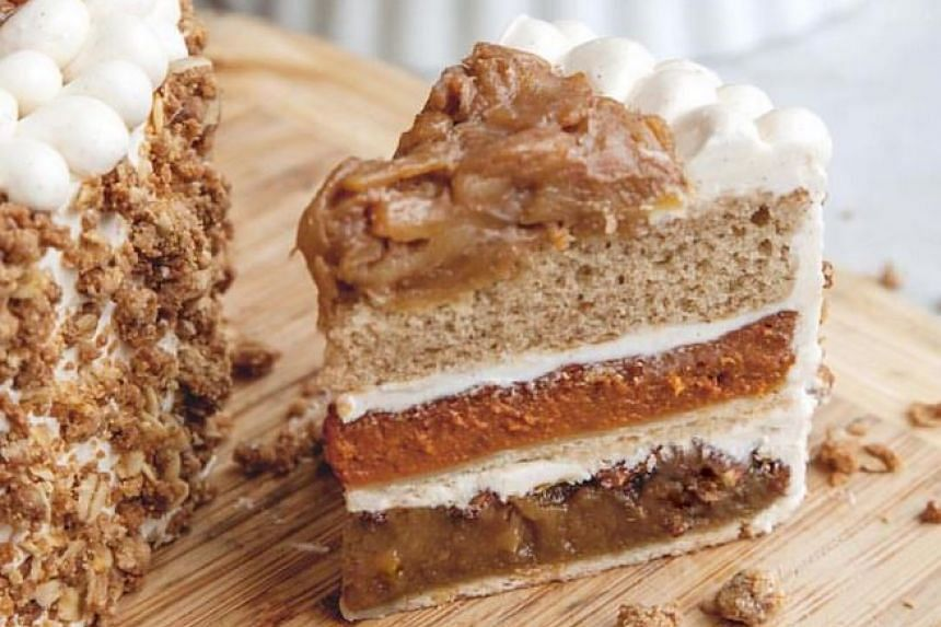 The piecaken, a Thanksgiving dish of a layer cake stuffed with three types of pie.