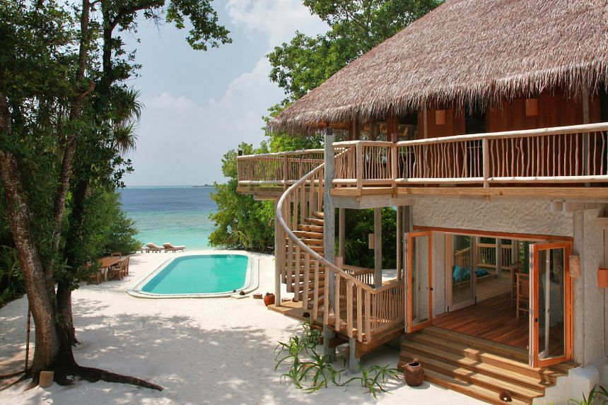 The Crusoe Suite at Soneva Fushi Resort in the Maldives comes with its own pool.