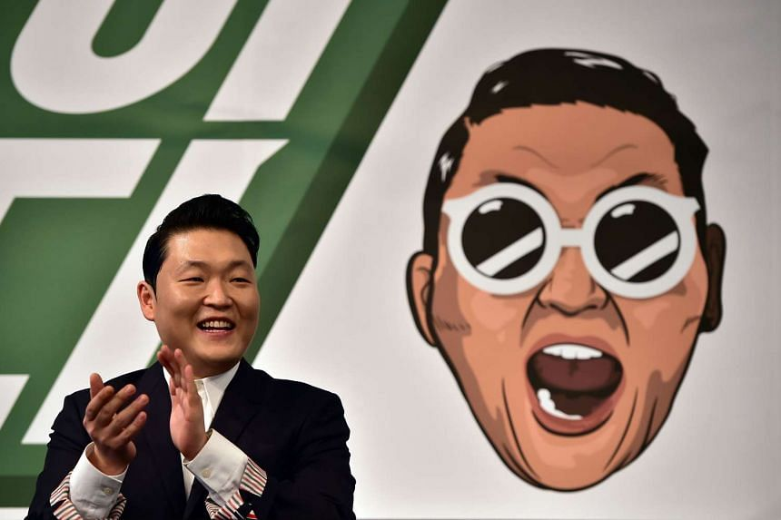 Psy at a press conference to promote his seventh album at a hotel in Seoul on Nov 30, 2015.