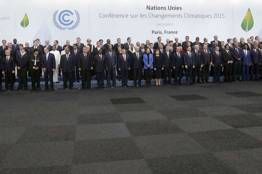 Heads of states and governments during the opening day of the World Climate Change Conference 2015.