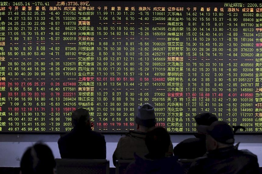 Jitters increased last Friday after China's stocks tumbled the most since a US$5 trillion plunge in August, as the authorities launched regulatory probes into some of the country's largest brokerages. At the same time, industrial profits fell short o
