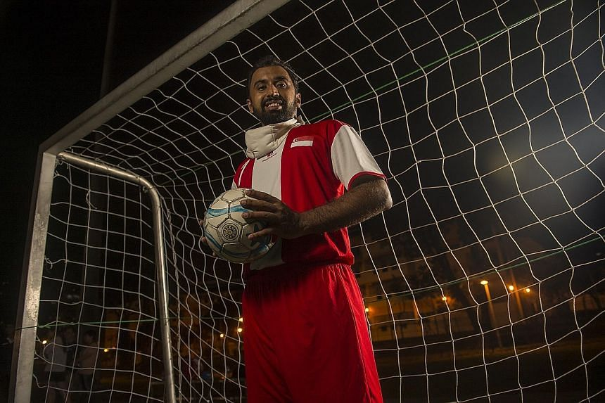 Melvinder Singh is visually impaired but has always competed against able- bodied athletes. He will make his APG debut as vice-captain of the Singapore five-a-side football team.