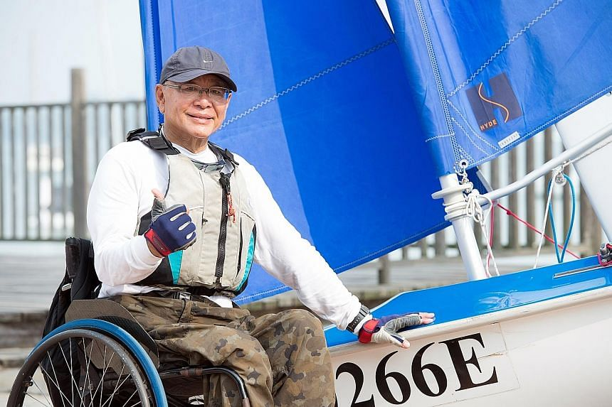 Sailing has given polio victim and cancer survivor Anthony Teo joy and freedom, while letting him push the limits of his disability.