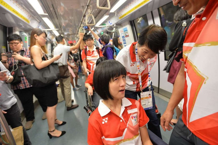 The Team Singapore contingent got a send-off as they checked into the Games Village at Marina Bay Sands (MBS).