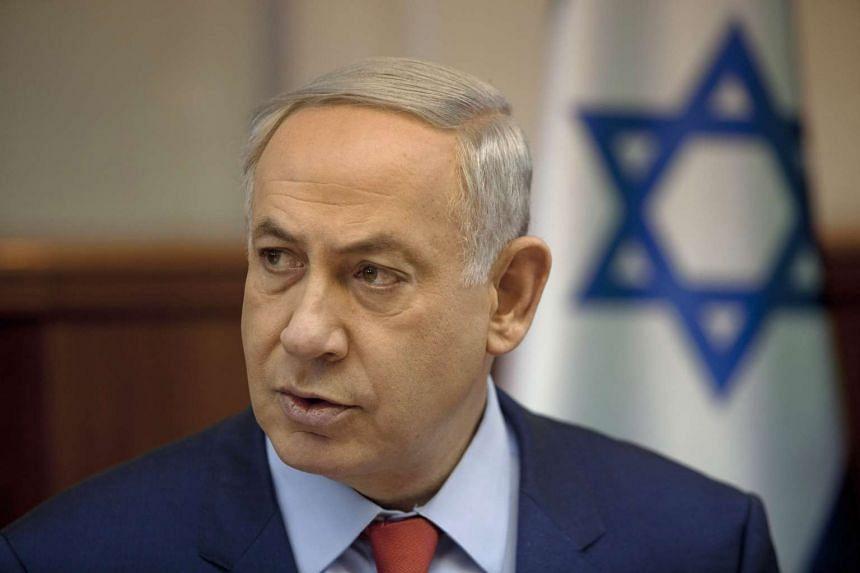 Israeli Prime Minister Benjamin Netanyahu attends a cabinet meeting in Jerusalem Sunday.