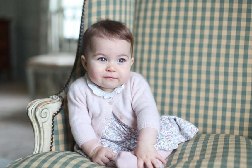 A photo taken by the Duchess of Cambridge of Princess Charlotte.