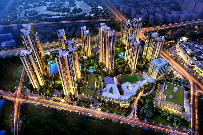 An artist's impression of Phase 4 of Nanhai Business City, a 42ha mixed-use project that Mapletree is developing. When completed, the development will comprise residential towers and commercial components such as the VivoCity Nanhai mall and an internatio