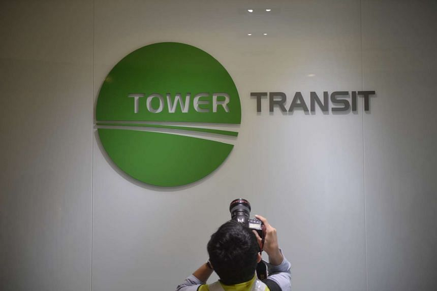Tower Transit's logo at the Bulim Bus Depot.