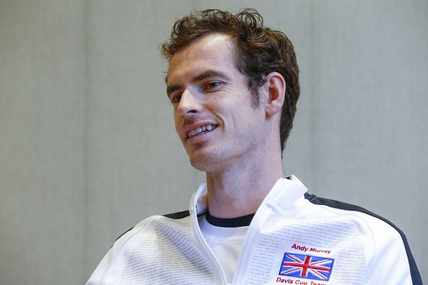 Britain's Andy Murray speaks during an interview in Ghent, Belgium.
