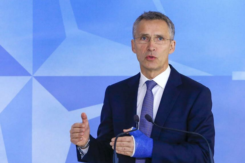 Nato Secretary-General Jens Stoltenberg speaks at the start of a meeting in Brussels on Dec 1, 2015.