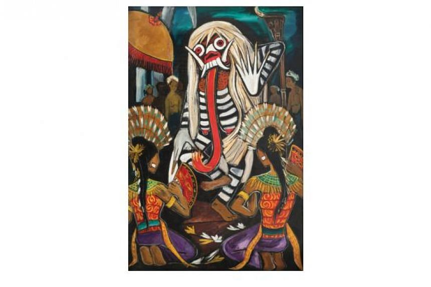 Balinese Dance (1953) by Cheong Soo Pieng fetched the highest price of the 41 lots in the sale.