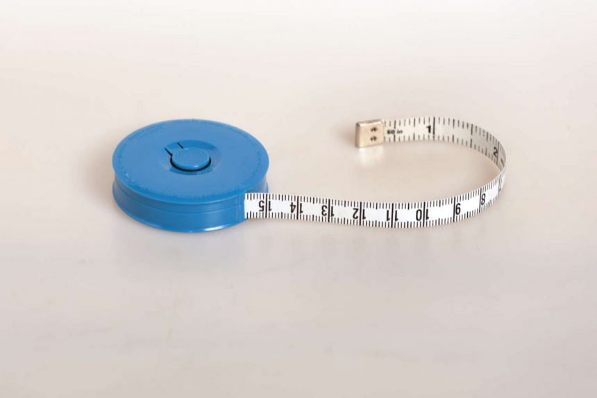 The specially-designed measuring tape measures circumference and not length.