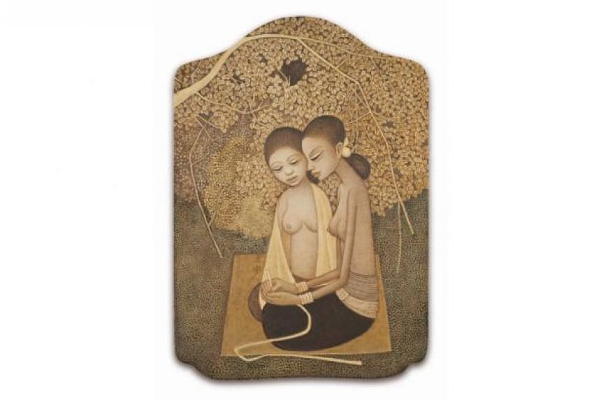 Sisters by Cheong Soo Pieng.
