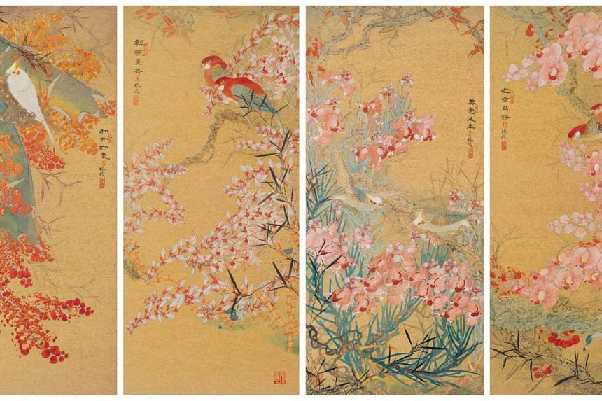 Nature's Melody; Everlasting Bliss; Flora And Fauna; Peace And Harmony (2015) by Lee Hock Moh.