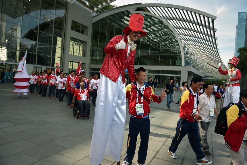 Official team welcome ceremony for the Asean Para Games.