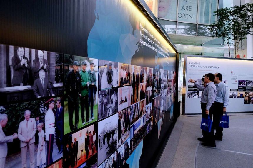Exhibition on 50 years of Singapore's foreign policy at Capitol Piazza.