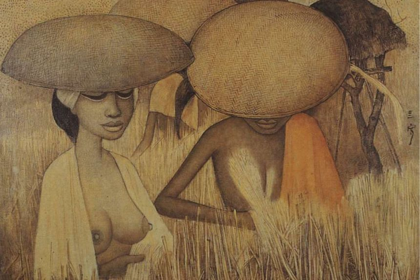 The Golden Harvest by Cheong Soo Pieng.