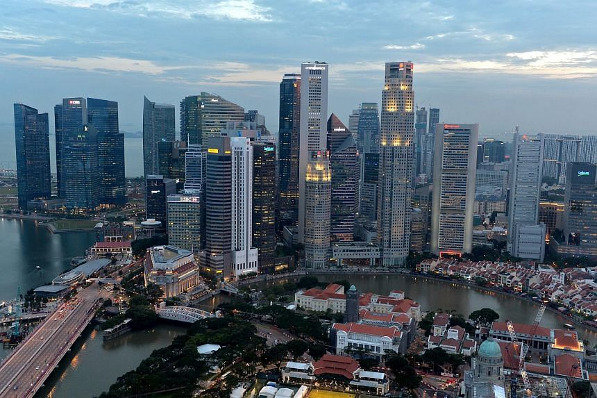 Fitch has revised its growth outlook for Singapore over 2015 and 2016 to an average of 2.1 per cent, from an earlier forecast of 3.2 per cent.