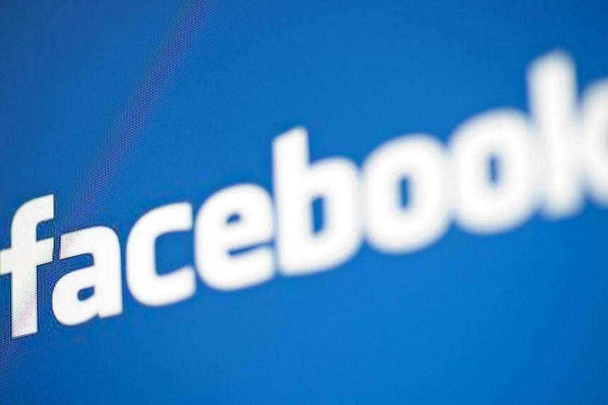 A view of Facebook's logo.