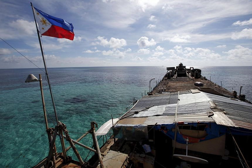 The Philippine ship BRP Sierra Madre, run aground on the disputed Second Thomas Shoal in the Spratly Islands, in this March 29, 2014 file photo.