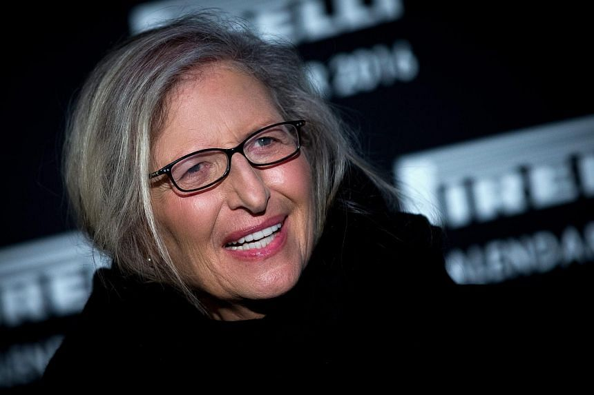 US photographer Annie Leibovitz at the launch of the Pirelli Calendar 2016 in London on Nov 30.