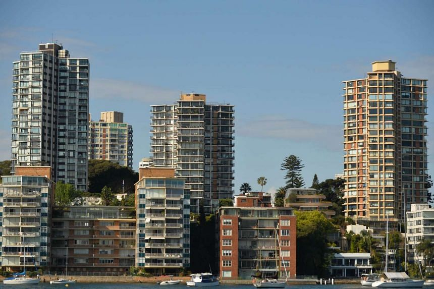 Residential property along the Sydney harbourfront on Sept 17.