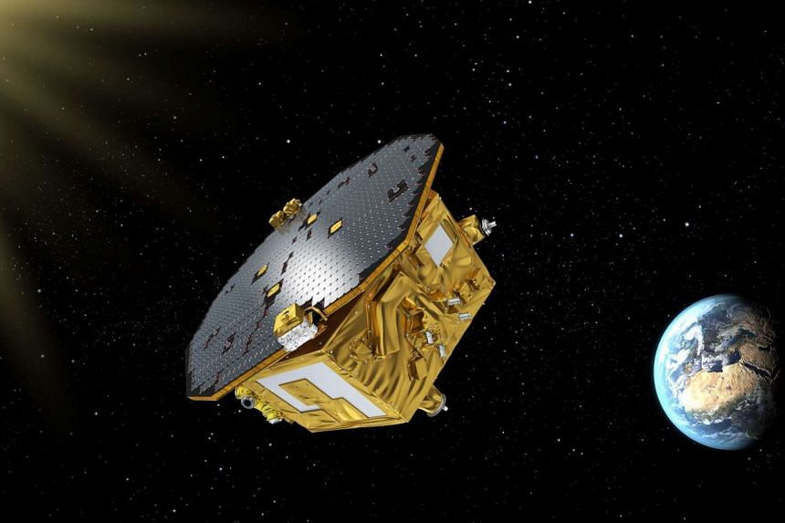 An artist's impression of the LISA Pathfinder, the European Space Agency's mission to test technology for future gravitational-wave observatories in space.
