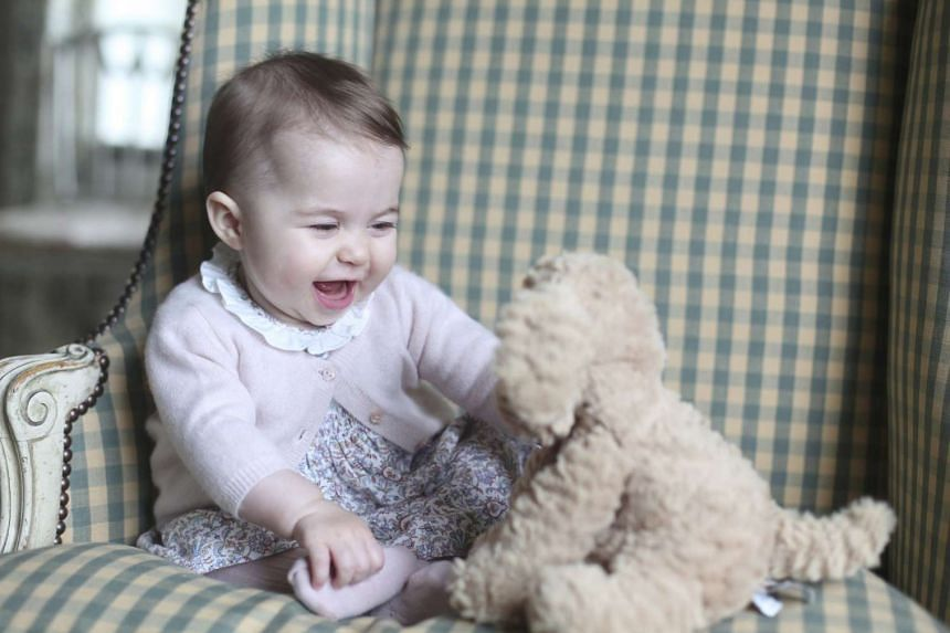 Britain's Princess Charlotte, seen in this photo taken by her mother, Kate Middleton, the Duchess of Cambridge, early last month at their family home in Norfolk, and released by Kensington Palace on Sunday. The last time the six-month-old was seen