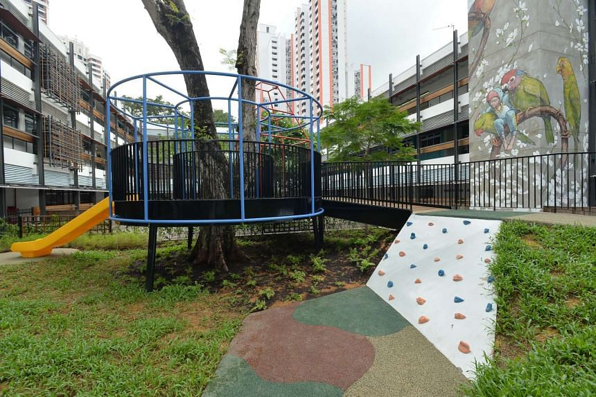 The playground at the Enabling Village. The facilities at the community space can be used by both people with and without disabilities.
