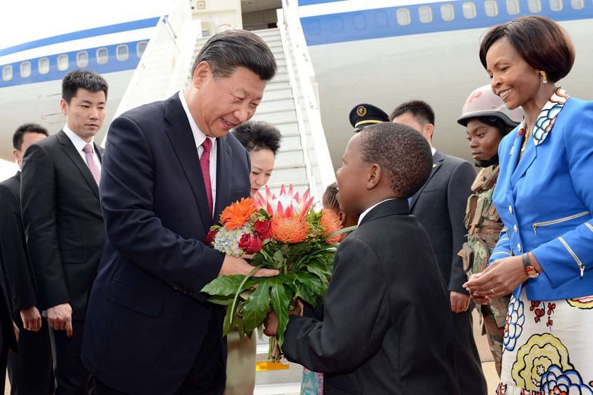 Chinese President  Xi Jinping, arrives at Waterkloof Air Force Base ahead of his state visit to South Africa.