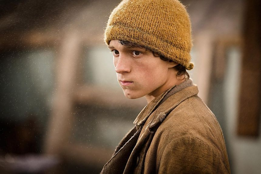 Tom Holland (above), who plays seaman Thomas Nickerson, was seasick for two days during the filming of In The Heart Of The Sea.