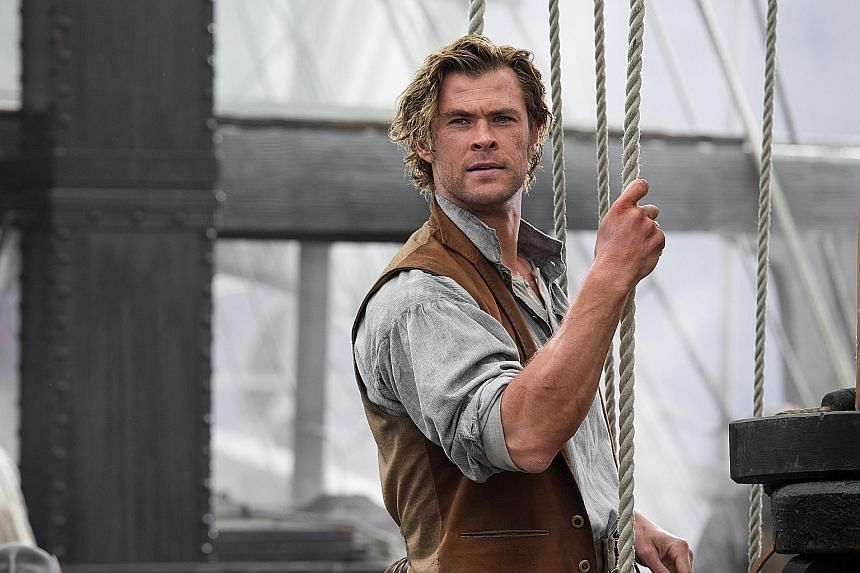 The latest role for Chris Hemsworth is a whaler in In The Heart Of The Sea (above).