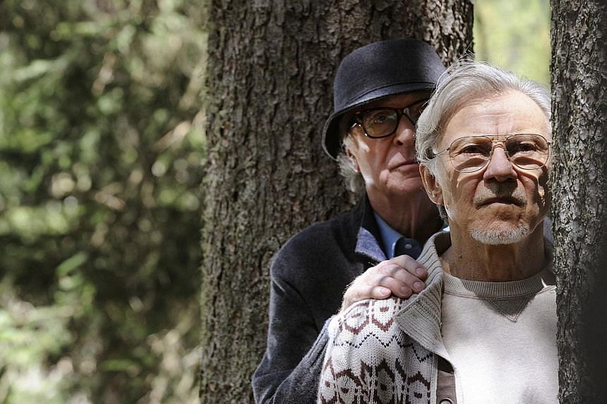 Michael Caine (left) and Harvey Keitel in Youth, about an ageing composer passing time at an Alpine resort and reflecting on his life.