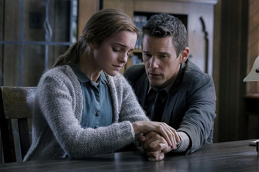 Actors Luke Bracey (in Point Break); Chris Hemsworth (in In The Heart Of The Sea); and Emma Watson and Ethan Hawke (both above, in Regression) struggle to lift three sinking films.