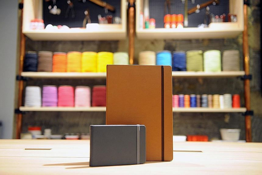 Mr Lian wanted to create a hardcover, compact sketchbook that opened out flat and was filled with top-grade paper.