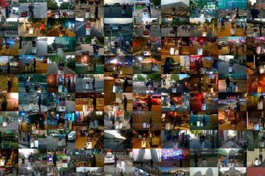 A collage of the places in Beijing that Mr Wang has visited.